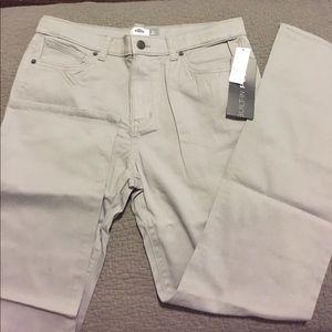 Old Navy boys gray chino pants 16Husky